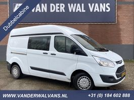 closed lcv Ford Transit Custom 2.2TDCI L2H2 Trend *Dubbele cabine* Airco, cruise, 2300kg trekhaak, 5-zits 2014