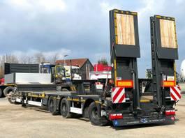 lowloader semi trailer KAESSBOHRER SCANDIC, ausziehbar, Lift-u. Lenkachse, MIETEN? 2021