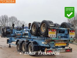 container chassis semi trailer ASCA S322D1 2 axles Package of 3! Steel Suspension 2005