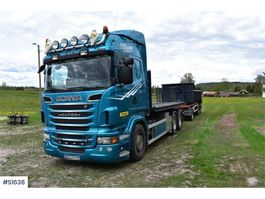 container truck Scania R500 6x2 Lastväxlare Hook Truck w flak / flat 2011