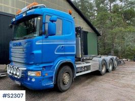 container truck Scania R480 8x4 Hook Truck Tridem 2011