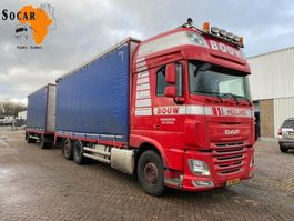 drop side truck DAF XF 106.460 6X2 + GS MEPPEL Aanhanger -> Pluimvee/Geflügel /Chicken transport 2014