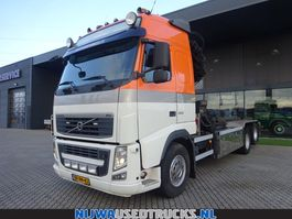 container truck Volvo FH 460 Hiab 322 E-6 Hipro kraan + HTS Kabelsysteem 24 T 2010
