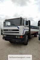 platform truck DAF 2300 Turbo 19 ton full springs hub reduction left hand drive 1988