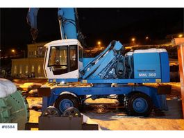 wheeled excavator Fuchs MHL 360 wheeled machine with grab 2002