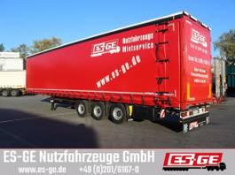tilt semi trailer Kögel 3-Achs-Mega-Volumen-Pritschensattelanhänger 2018