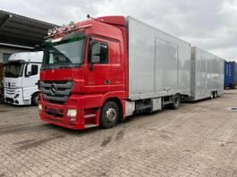 Autotransporter Lastkraftwagen Mercedes-Benz 1844 Autotransporter Geschlossen mit Anhänger 2009