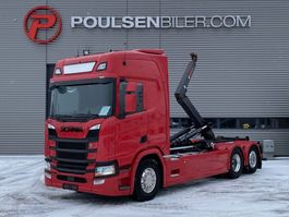 container truck Scania R500 Hiab Hooklift 2017