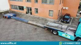 lowloader semi trailer RECKER 2-ass. Uitschuifbare dieplader met afneembare zwanenhals 2016
