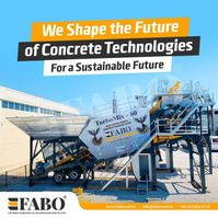 concrete batching plant FABO READY IN STOCK !! 60m3/h NEW GENERATION MOBILE CONCRETE PLANT Mobile 2020
