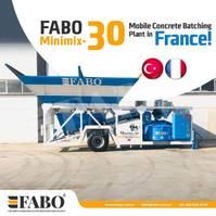 concrete mixer FABO MOBILE CONCRETE PLANT CONTAINER TYPE 30 M3/H FABO MINIMIX 2021