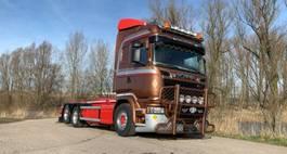 container truck Scania R730-V8 Scania R730 Highline Leebur Haaksysteem EU6 TOP 2015