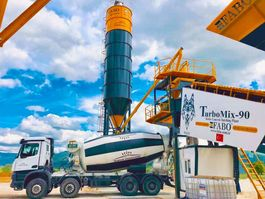 concrete batching plant FABO TURBOMIX-90 MOBILE CONCRETE BATCHING PLANT 2020