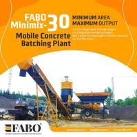concrete batching plant FABO MINIMIX 30 M3/H MOBILE CONCRETE PLANT EASY TRANSPORT 2021