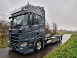 closed box truck Scania R650-V8 R650 B6X2NB BDF Chassis 2018