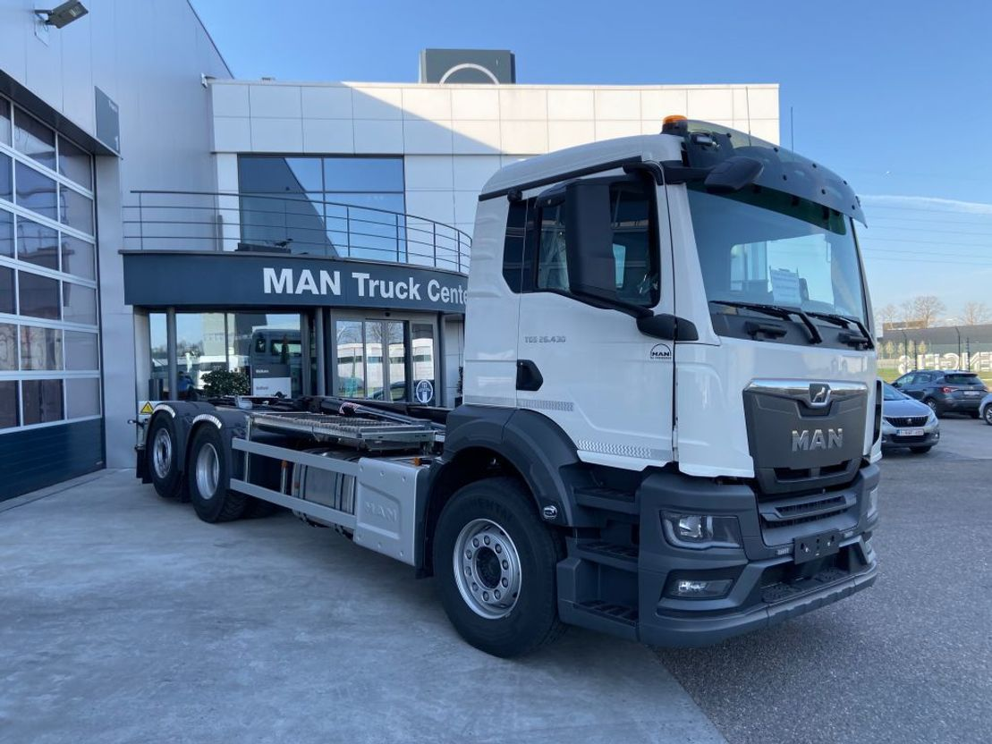 Container-LKW MAN TGS 26.430 6x2-4 BL-NN New Generation AJK containerhaak 2021