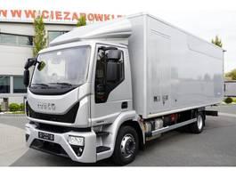 closed box truck Iveco EuroCargo ML 120E , 180.000km , E6 , 4x2 , 16 EPAL , Container 6 2017
