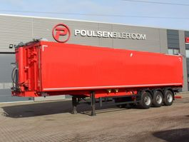 tipper semi trailer Langendorf 3-axle 61m3 alu-body EcoTop