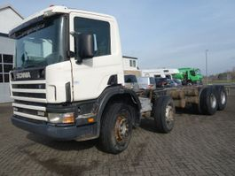 chassis cab truck Scania P124-420 FULLSTEEL SPRINGS 1998