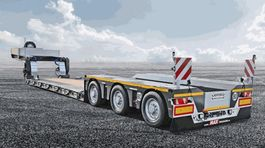 lowloader semi trailer Faymonville Maxtrailer 3-Achs-Tiefbett mit Pendelachsen