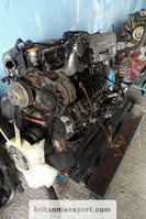 Engine truck part Nissan B6.60 Turbo 6 cylinder engine and ZF manual gearbox. 2000