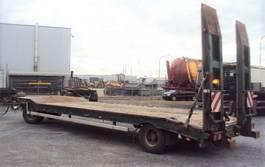 semi lowloader trailer Müller-Mitteltal 2 achs 18 to T2 Rampen 2x Öse zwilling 2002