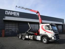 container truck Volvo FMX 450 6x2 Euro 6 Haak/Kraan 2016