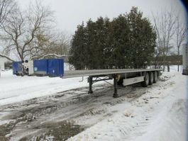 flatbed semi trailer Fliegl Plateau,feuerverzinkter Rahmen,Bereifung ca. 80% 2020