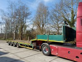 lowloader semi trailer Faymonville STZ-4AU  6,3M TELE   HYDR GESTUURD 2001