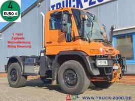 chassis cab truck Unimog U 400 4x4 Mähwerkst. Zapfwelle Wechsellenkung 2008