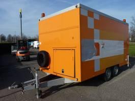 closed box car trailer Brenderup gesloten vol machines voor rioolreparatie enz. met fahrzeugbrief