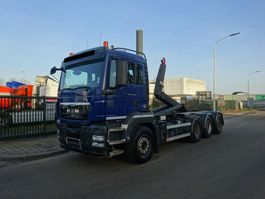 container truck MAN TGS 35.440 8X4 TRIDEM / WAF HAAKSYSTEEM 25 TONS / LOW KM !! 2012