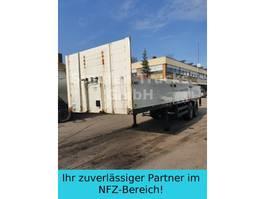 flatbed semi trailer Meusburger Pritschen SANH 2-ACHS KURZ 9 M Mitn.stapler 2006