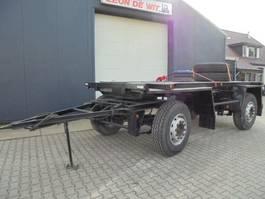 drop side full trailer Netam-Fruehauf 2-as bladvering aanhangwagen met NL Kenteken 1985