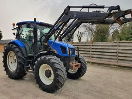 farm tractor New Holland TS110A met New Holland 120FL voorlader 2006