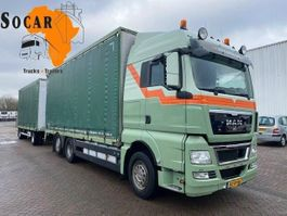 drop side truck MAN TGX 26 6X2 Combination (+ GS MEPPEL trailer) for -> Pluimvee/Geflügel /Chicken transport 2011