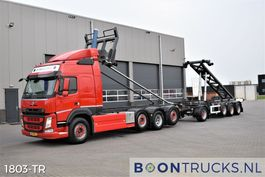 container truck Volvo FM 500 8x2 | EURO6 * 2 x 20ft TIPPING COMBI * 3 x STEERING 2014