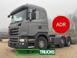 Gefahrgut SZM Scania G450 Twensteer ADR Tractor unit Air / Air suspension 2015