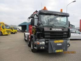 container truck Scania 124 360 EURO 2 8X2 FULLSTEELSUSPENSION 1997
