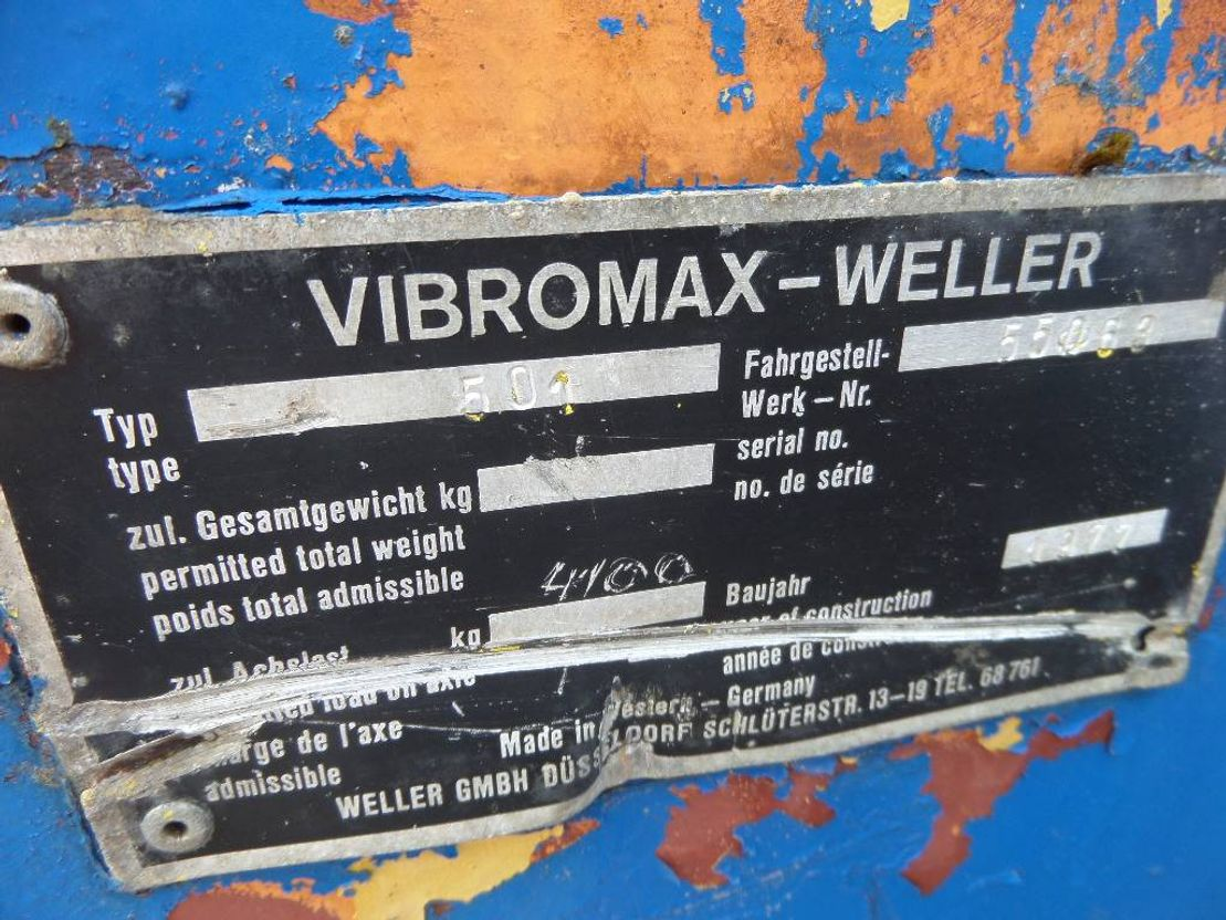 Rüttelverdichter Vibromax 501 1977