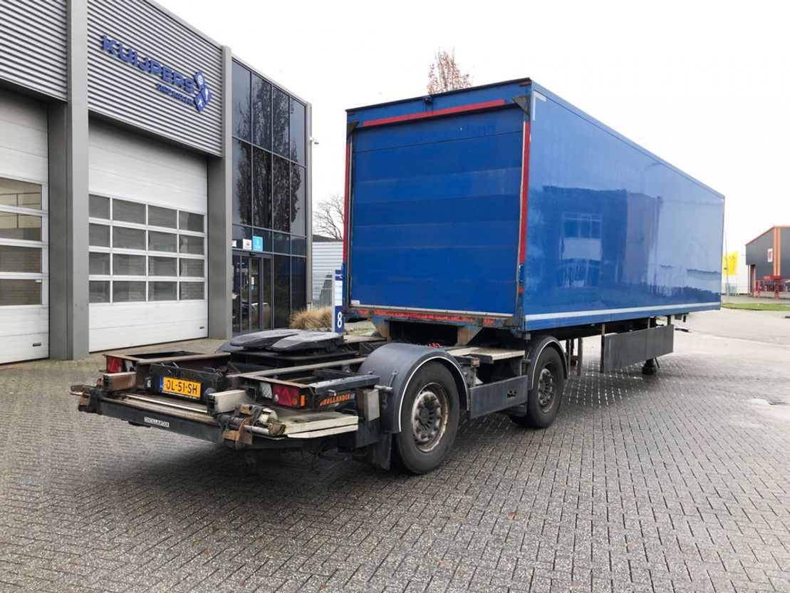 geschlossener Kasten Auflieger Tracon Trailers TB1218 / LZV B-Double / Box 10 mtr / Laadklep / APK 06-2021! 2012