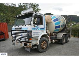 concrete mixer truck Scania P92 92H 6x2 Concrete truck with 7m3 drum. WATCH VIDEO 1987