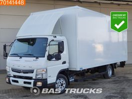 closed box truck Mitsubishi Canter Fuso 7C18 4X2 Manual Ladebordwand Steelsuspension Euro 6 2016