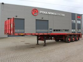 flatbed semi trailer Broshuis 3-axle 12,70m + 6,00m extentable flatbed