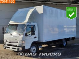 closed box truck Mitsubishi Canter Fuso 7C18 4X2 Manual Ladebordwand Steelsuspension Euro 6 2017