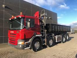 drop side truck Scania P400 8x2 Euro 5 2011