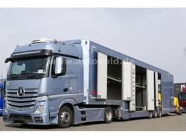 car transporter truck Mercedes-Benz Actros 1845 Autotransporter Komplettzug 2015