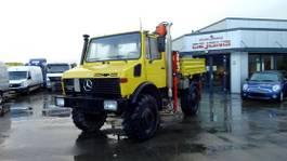 platform truck Mercedes-Benz Unimog U 1650 mit Kran und Pritsche /Ahk. 1993