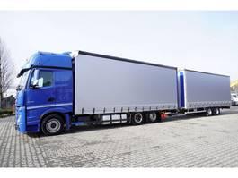sliding curtain truck Mercedes-Benz Actros 2548 , E6 , MEGA , JUMBO 120m3 , 38 EPAL , crossing set , 2019
