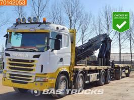 platform truck Scania G480 8X4 Kran Crane Hiab 700 EP-4 Euro 5 3-Pedals Retarder 2012